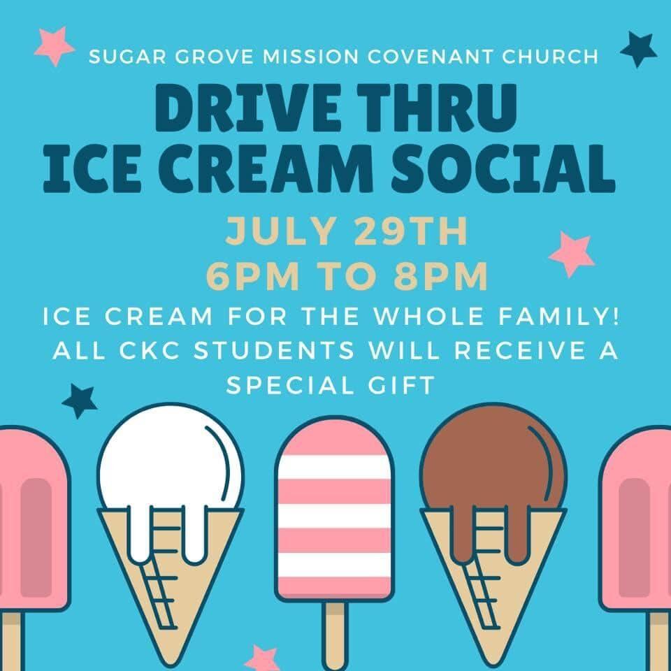 Drive Thru Ice Cream Social 2020